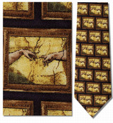 Michelangelo - Creation of Adam Necktie - Museum Store Company Photo