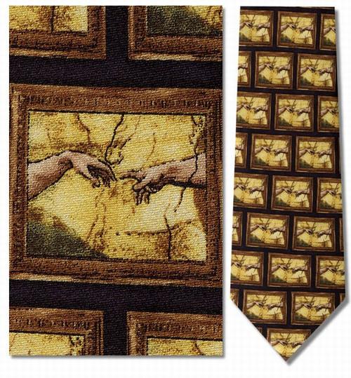Michelangelo - Creation of Adam Necktie - Museum Store Company Photo