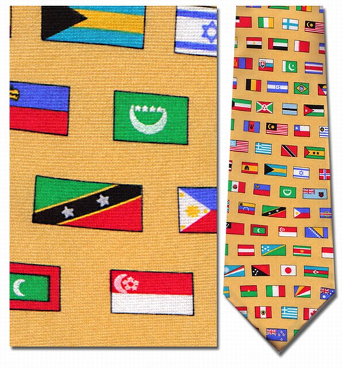 Flags of the Nations Necktie - Museum Store Company Photo