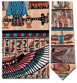 Egyptian Wall Art - Barge Necktie - Museum Store Company Photo