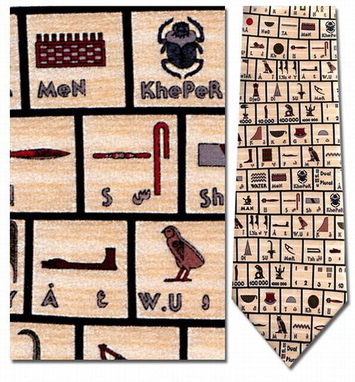 Hieroglyphics (symbols) Necktie - Museum Store Company Photo