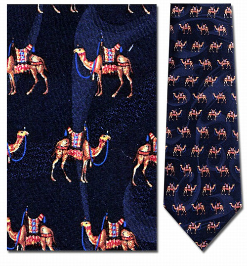 Ancient Camels Repeat Necktie - Museum Store Company Photo