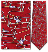 Ducks In Pond Necktie - Museum Store Company Photo