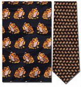 Frogs Small Repeat Necktie - Museum Store Company Photo
