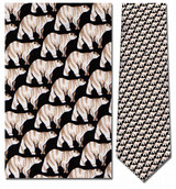 Polar Bears Mini Repeat Necktie - Museum Store Company Photo