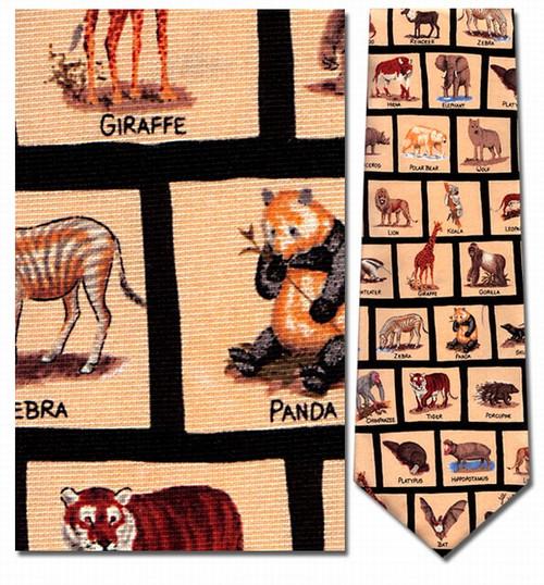 Mammals In Squares Necktie - Museum Store Company Photo