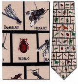 Insects In Squares Necktie - Museum Store Company Photo