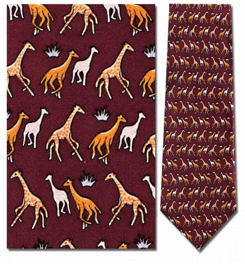 Giraffe Mini Repeat Necktie - Museum Store Company Photo