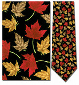 Maple Leaves Necktie - Museum Store Company Photo