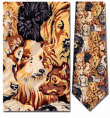 Dog Faces Necktie - Museum Store Company Photo