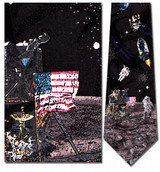 Man on the Moon Necktie - Museum Store Company Photo