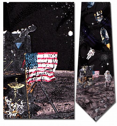 Man on the Moon Necktie - Museum Store Company Photo