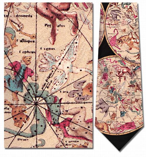 Celestial Hemispheres Necktie - Museum Store Company Photo
