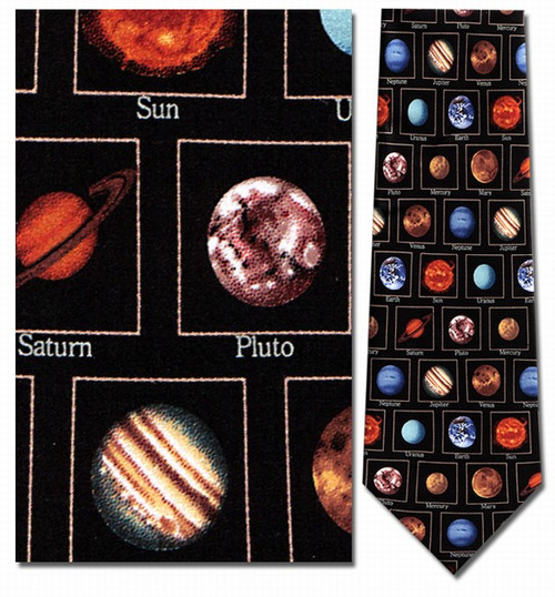 Planets With Names Necktie - Museum Store Company Photo