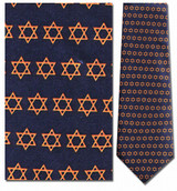 Star of David Classic Repeat Necktie - Museum Store Company Photo