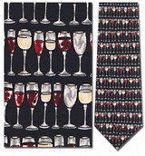 Wine Glasses Horizontal Necktie - Museum Store Company Photo