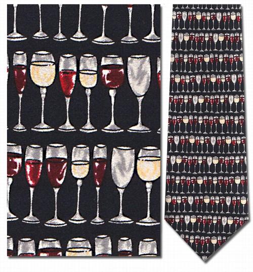 Wine Glasses Horizontal Necktie - Museum Store Company Photo