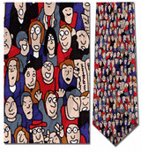 The People Tie, Faces in a Crowd Necktie - Museum Store Company Photo