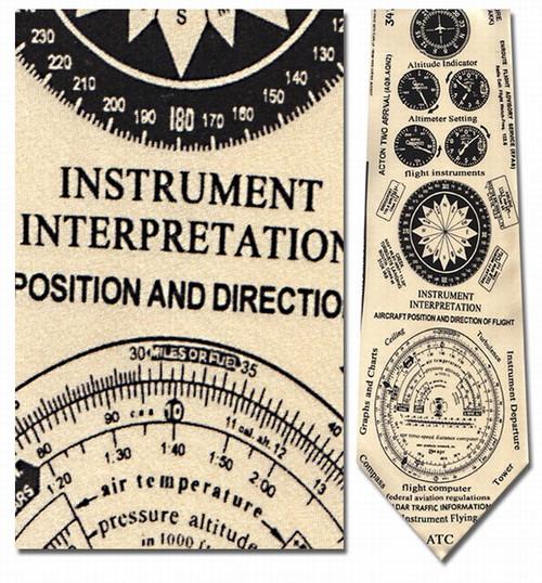 Instruments of Flight Necktie - Museum Store Company Photo
