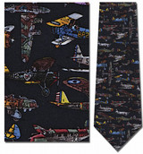 World War II Airplanes Necktie - Museum Store Company Photo
