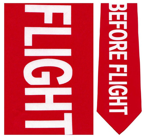Remove Before Flight - Pilot Necktie - Museum Store Company Photo