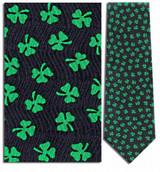 Shamrock Clovers, St. Patricks Necktie - Museum Store Company Photo