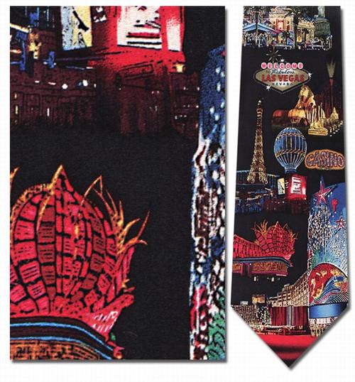 Las Vegas at Night Necktie - Museum Store Company Photo