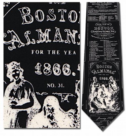 Boston Almanac - Old Ads, 1866 Necktie - Museum Store Company Photo