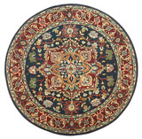 Heriz - Navy / Red Rug : Persian Tufted Collection - Photo Museum Store Company