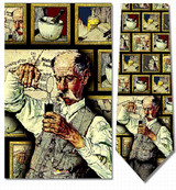 Norman Rockwell - The Pharmacist Necktie - Museum Store Company Photo
