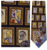 Norman Rockwell --Triple Self-Portrait Necktie - Museum Store Company Photo