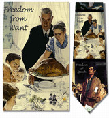 Norman Rockwell - Four Freedoms Necktie - Museum Store Company Photo