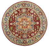 Heriz - Red / Navy Rug : Persian Tufted Collection - Photo Museum Store Company