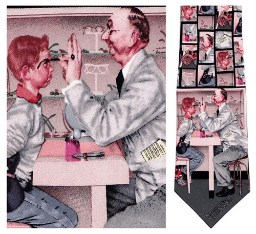 The Optometrist - Norman Rockwell Necktie - Museum Store Company Photo