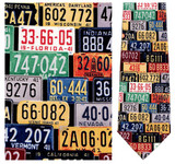 License Plates - Norman Rockwell Necktie - Museum Store Company Photo