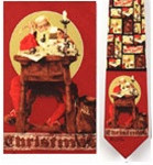 Santa at His Desk - Norman Rockwell Necktie - Museum Store Company Photo