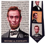 Abe Lincoln Portraits - Mort Kunstler Necktie - Museum Store Company Photo