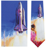 Launch of Columbia - Mort Kunstler Necktie - Museum Store Company Photo
