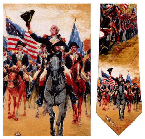 George Washington at Carlisle - Mort Kunstler Necktie - Museum Store Company Photo