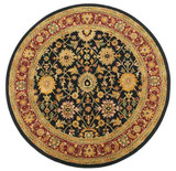 Kashan - Black / Plum Rug : Persian Tufted Collection - Photo Museum Store Company