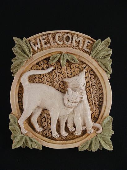 Welcome Cats Plaque -  - Museum Store Company Photo