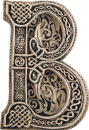 Manuscript Letter B - Illuminated Ancient Ornate Irish Manuscripts - Museum Store Company Photo