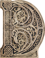 Manuscript Letter D - Illuminated Ancient Ornate Irish Manuscripts - Museum Store Company Photo