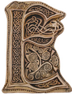 Manuscript Letter E - Illuminated Ancient Ornate Irish Manuscripts - Museum Store Company Photo