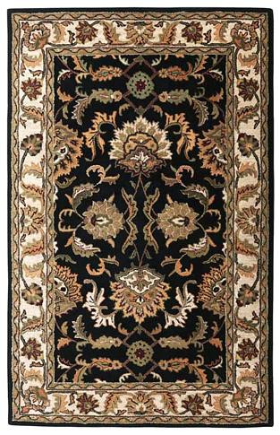 Agra - Black / Beige Rug : Persian Tufted Collection - Photo Museum Store Company