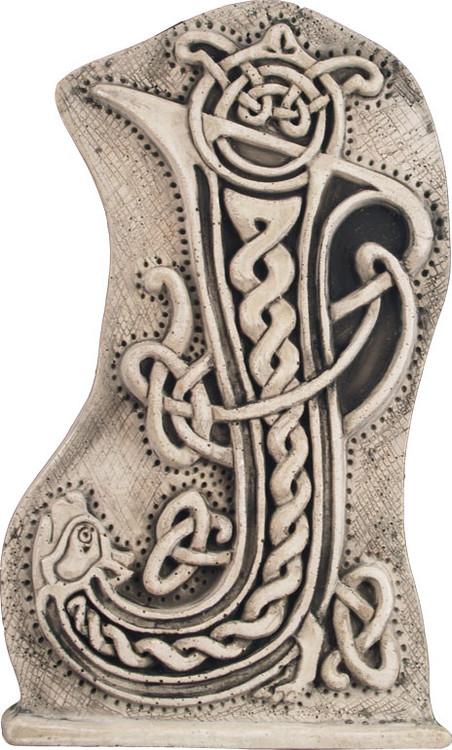 Manuscript Letter J - Illuminated Ancient Ornate Irish Manuscripts - Museum Store Company Photo