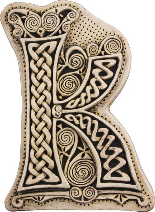 Manuscript Letter K - Illuminated Ancient Ornate Irish Manuscripts - Museum Store Company Photo