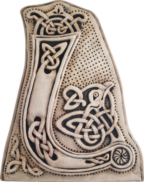 Manuscript Letter L - Illuminated Ancient Ornate Irish Manuscripts - Museum Store Company Photo