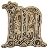 Manuscript Letter M - Illuminated Ancient Ornate Irish Manuscripts - Museum Store Company Photo
