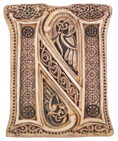 Manuscript Letter N - Illuminated Ancient Ornate Irish Manuscripts - Museum Store Company Photo